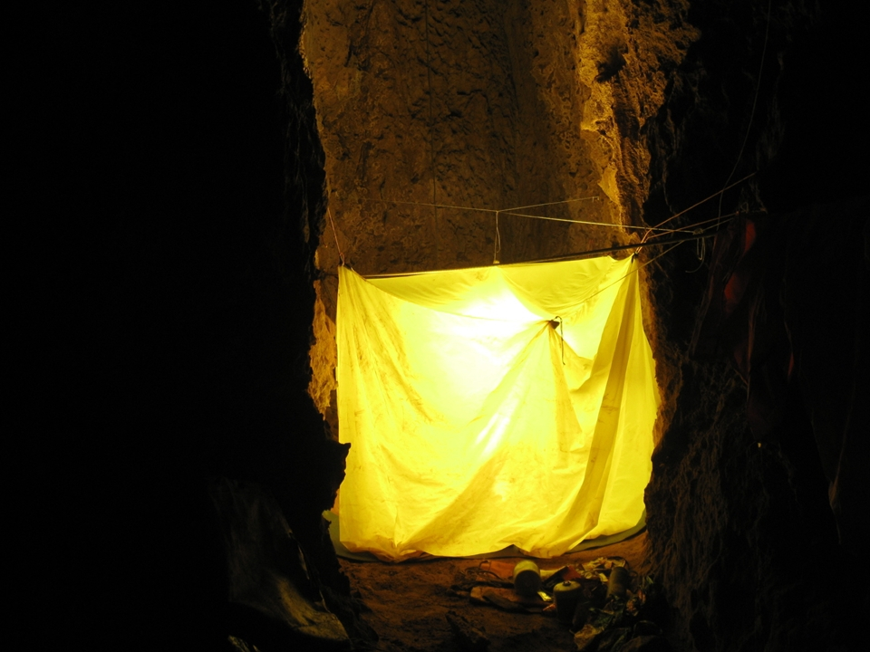 Underground camp at -350m (Martin Hoff)